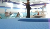 Aqua zumba instructor lynne wright