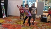 Samba battle on Zumba World Party game