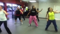 Zumba Instructor Autumn of Moveology performing