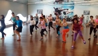 Zumba Tu Meri Bang Bang Bollywood song at Elite Rasuna Jakarta
