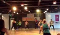 Zumba classes with Marites Pieper at Nk dance studio Busan Korea