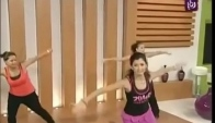 Zumba dance for fitness workout and losing weight - hot